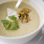 corn, corn soup, roasted corn soup, corn soup recipe, a stack of dishes