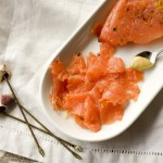 gravlax, gravlax recipe, a stack of dishes