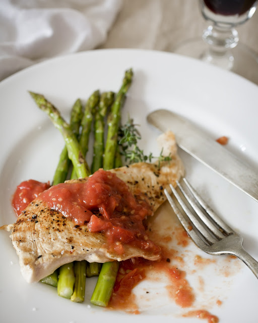 Grilled Smokey Chicken with Rustic Roasted Tomato Sauce