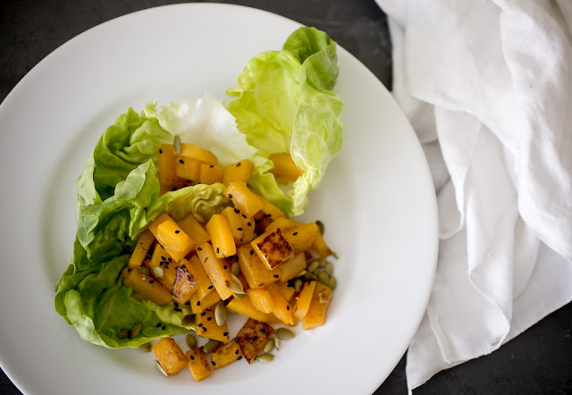 Pan Roasted Butternut Squash Salad with Seeds