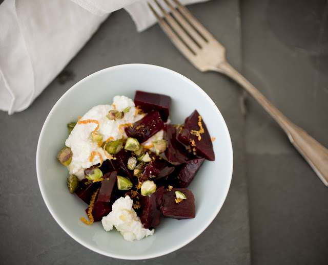 Fresh Goat Milk Ricotta Ruby Beet Salad