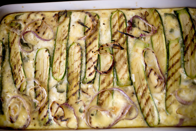 Grilled Baby Zucchini and Potato Tart