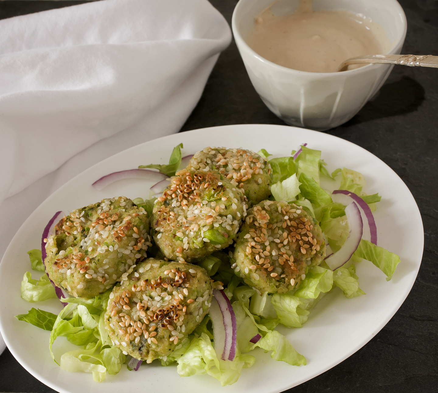 Falafel Salad with a Twist - A Stack of Dishes