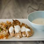israeli couscous, grilled chicken