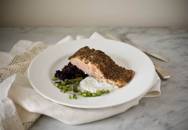 Spice Marinated Roasted Salmon