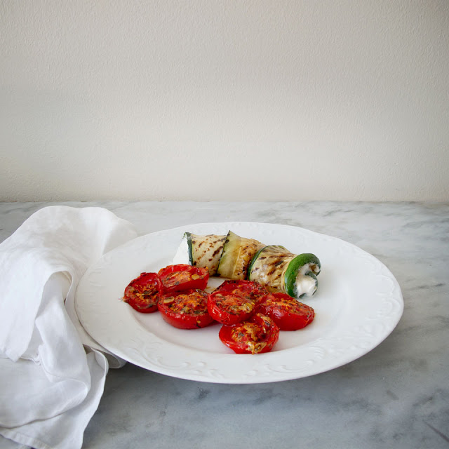 Zucchini Roll Ups with Provencal Roasted Tomatoes: And the Camera Calamity