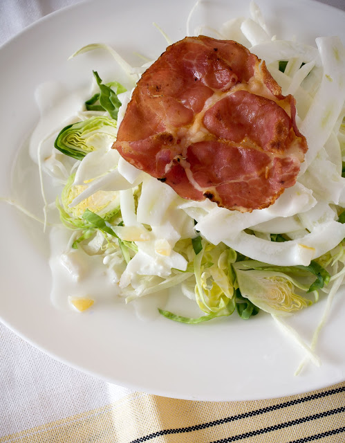 Cabbages & Fennel Salad + Calabrese Frito: Preserved Lemon Dressing