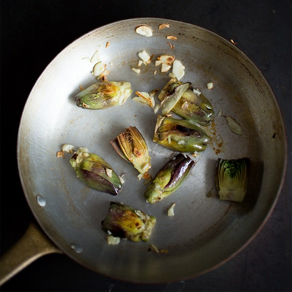 Sauteed Baby Artichokes ~ A Stack of Dishes.com