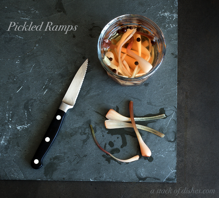 Pickled Ramps ~ A Stack of Dishes