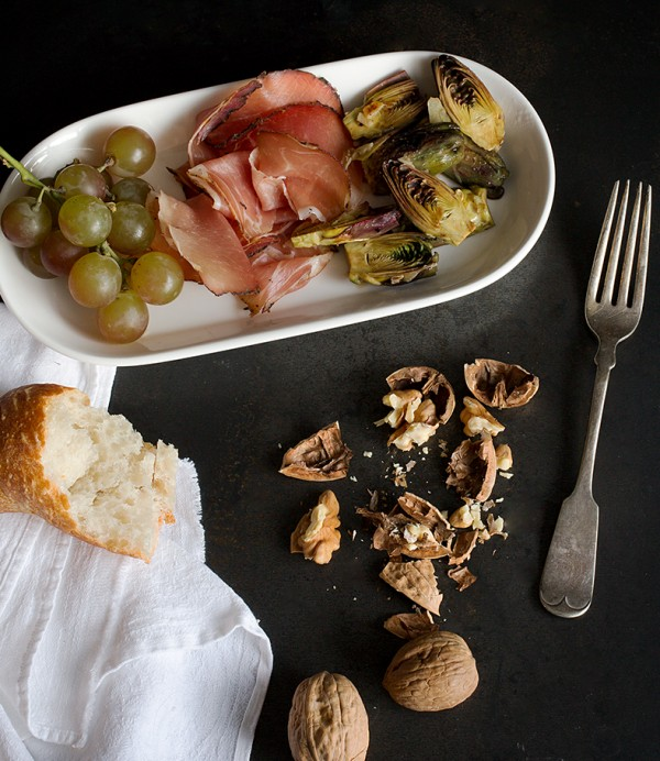 Antipasti Plate with Baby Artichokes ~A Stack of Dishes.com
