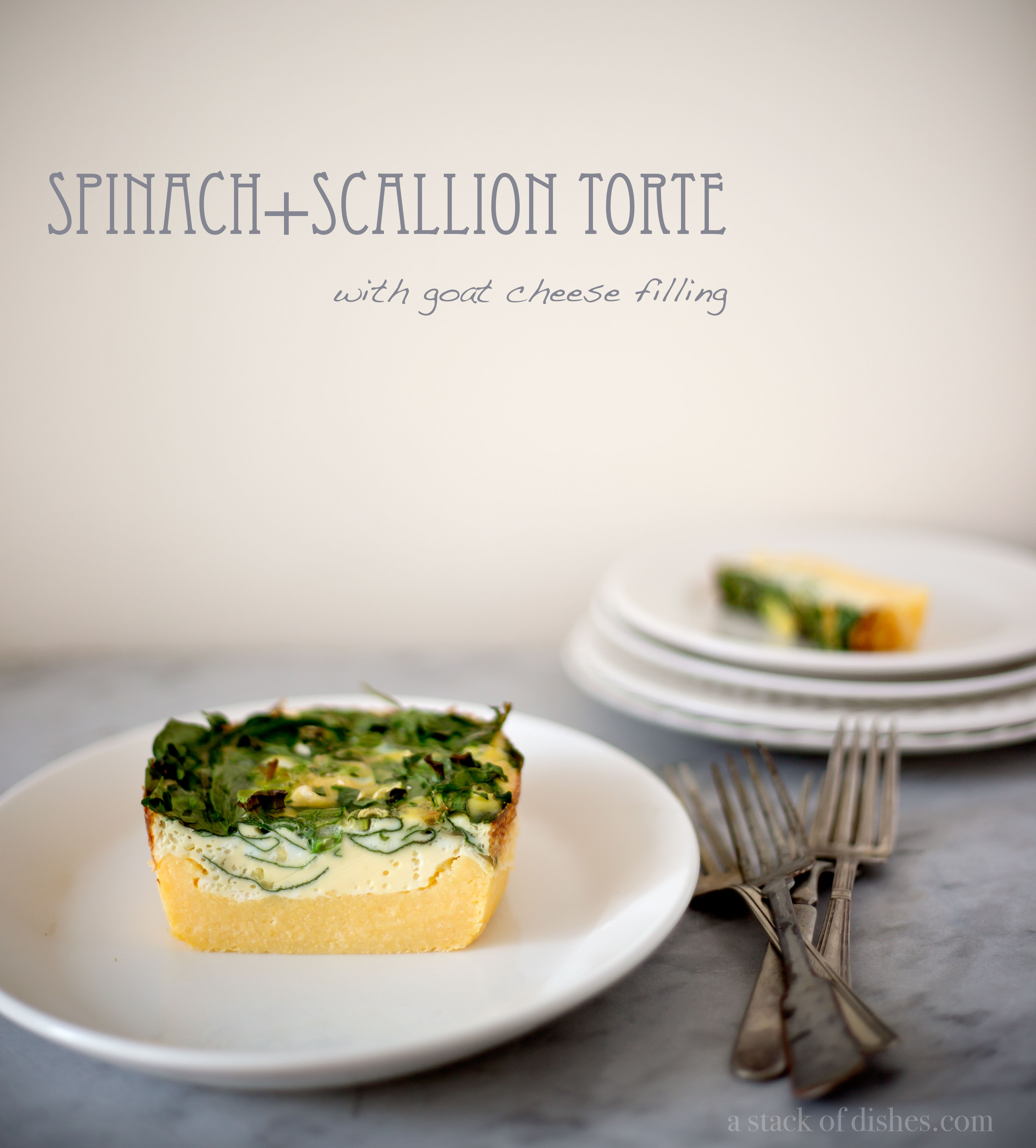 Spinach+Scallion Savory Torte