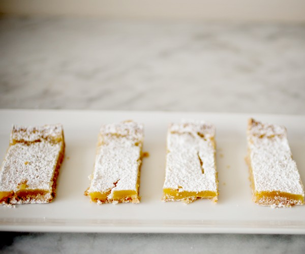 light lemon squares~ A Stack of Dishes.com