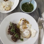 Venison Chimichurri~A Stack of Dishes