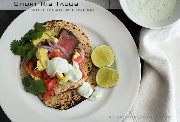 Short Rib Tacos with Cilantro Lime Cream