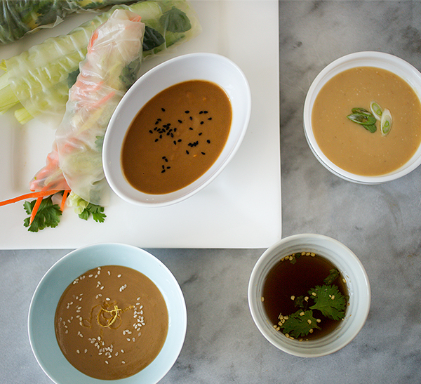 Summer Rolls with Four Dipping Sauces