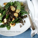 Lentil Kale Salad with Parsnips~A Stack of Dishes