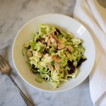 Brussel Sprout Salad~ A Stack of Dishes