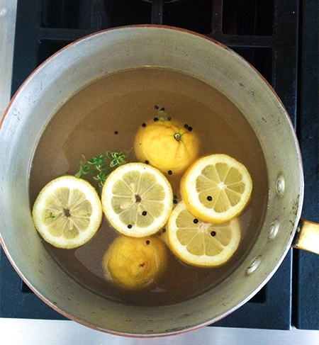 Lemon Broth~ A Stack of Dishes
