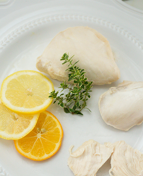 Poached Chicken~ A Stack of Dishes