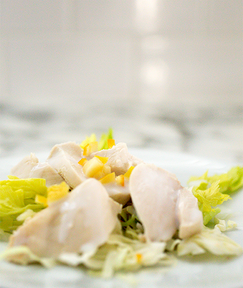 Poached Lemon chicken Salad~ A Stack of Dishes