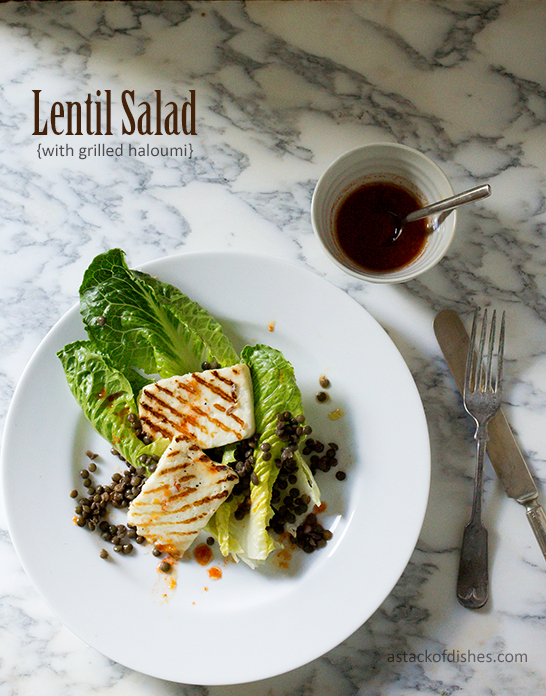 Lentil Salad with Grilled Haloumi + Machu Picchu