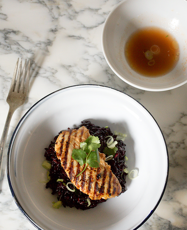 Red Curry Chicken with Gingered Black Rice ~A Stack of Dishes