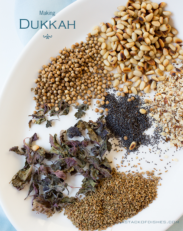 Making Dukkah~ A Stack of Dishes