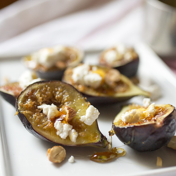 Lavender Honeyed Seared Figs - A Stack of Dishes