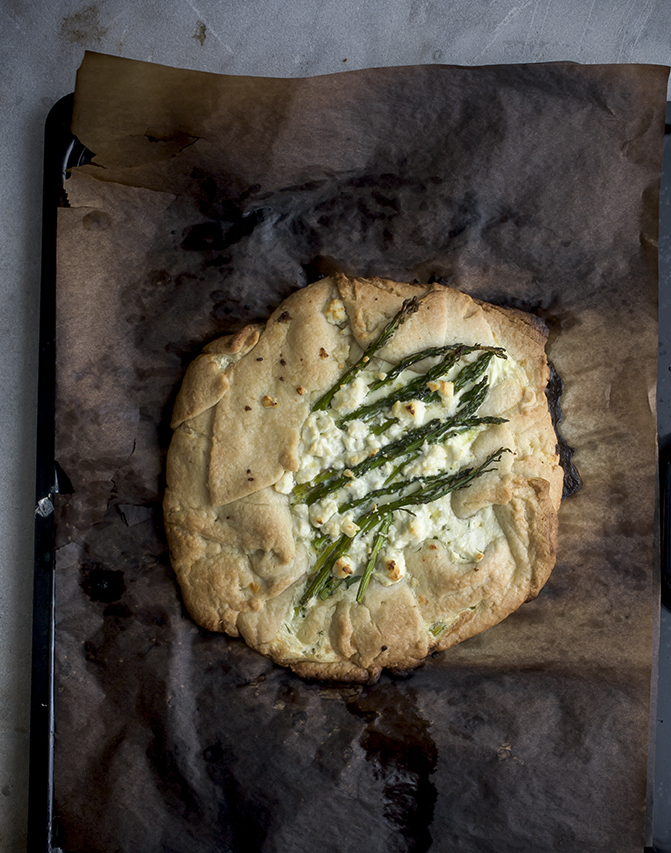 Free Form Asparagus Tart - A Stack of Dishes