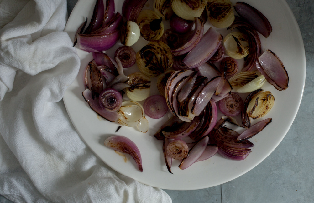 Roasted Onions for Onion Tart-A Stack of Dishes