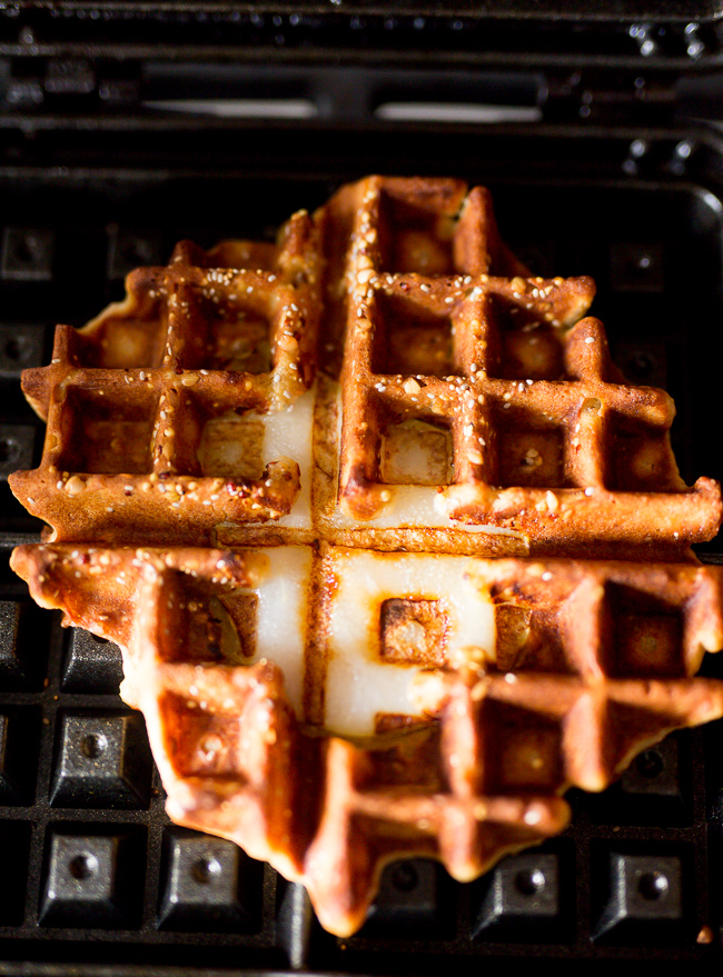 Whole Grain waffles- A Stack of Dishes