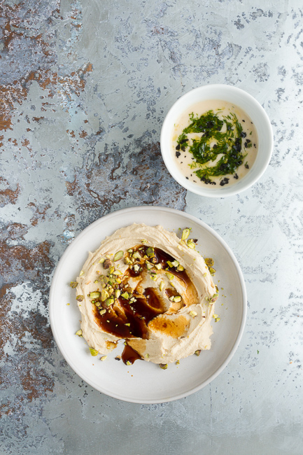 Pomegranate Pistachio Hummus- A Stack of Dishes