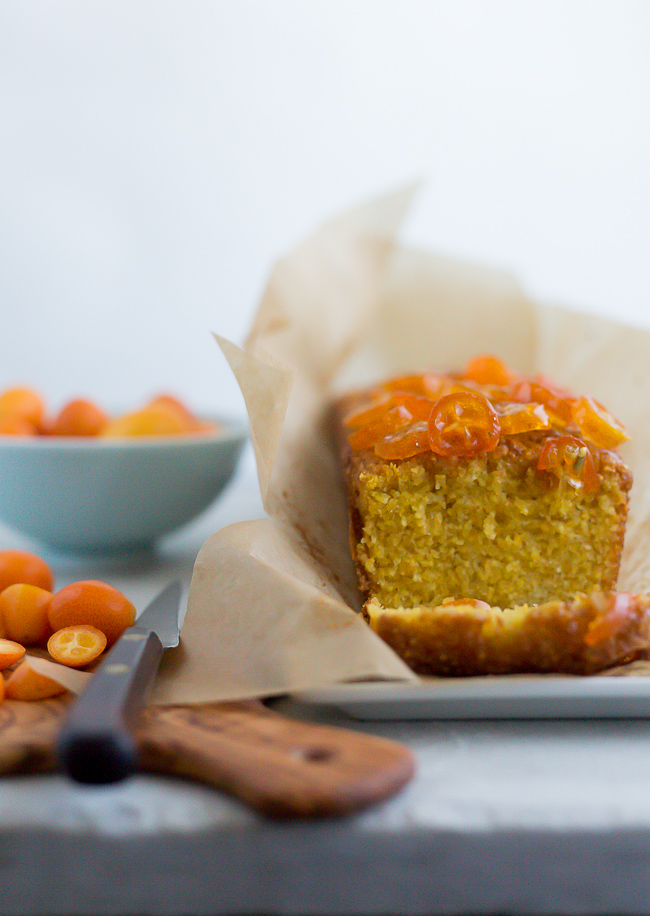 Olive Oil Polenta Cake-A Stack of Dishes