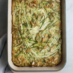 Zucchini Spinach Tart- A Stack of Dishes