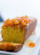 A Moist Dense Olive Oil Polenta Cake with Candied Kumquats