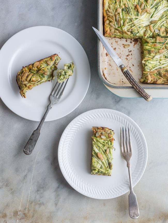 Zucchini Tart- A Stack of Dishes