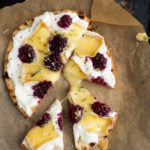 Blackberry Brie Flatbread Pizza with Tarragon